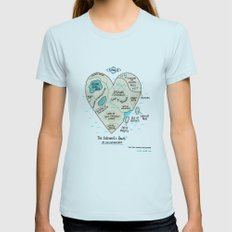 A Map Of The Introvert's… Womens Fitted Tee Light Blue SMALL