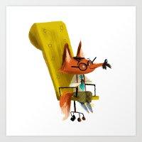 Fox Boss Art Print