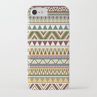 aztec iPhone & iPod Cases featuring Aztec by Dianne Delahunty