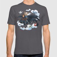 Dragon Riders ver 2 Mens Fitted Tee Asphalt SMALL