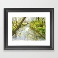 Root River At Racine Framed Art Print