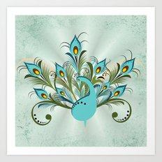 Just a Peacock Art Print