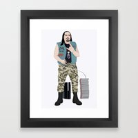 Metalhead Gamer Framed Art Print