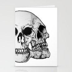 Threesome Skull - Black version Stationery Cards