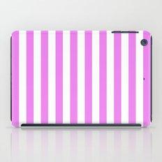 Vertical Stripes (Violet/White) iPad Case