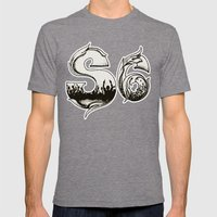 Society Party Mens Fitted Tee Tri-Grey SMALL