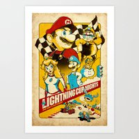 Lightning Cup Nights: The Fast & the Fungus Art Print