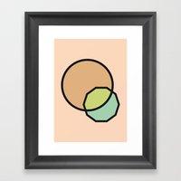 Shapes Illustration Framed Art Print