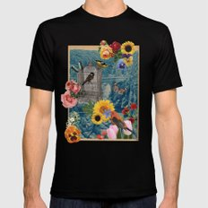 Collage  Black Mens Fitted Tee SMALL
