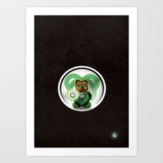 Super Bears - the Green One Art Print
