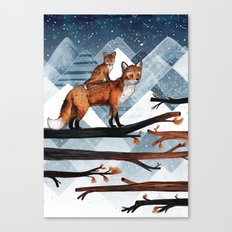 Fox Wood Canvas Print