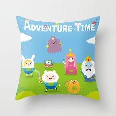 adventure time-olla Throw Pillow