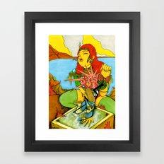 Odd Showdown At Texcoyo Gulf Framed Art Print