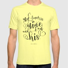 Love message Mens Fitted Tee Lemon SMALL