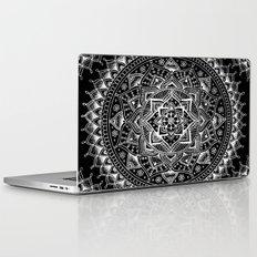 White Flower Mandala On … Laptop & iPad Skin