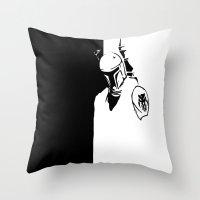 Boba Fett - Dented Helme… Throw Pillow