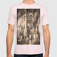 Rochester Cathedral Vintage Mens Fitted Tee Light Pink SMALL