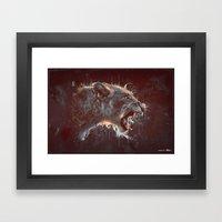 DARK LION Framed Art Print