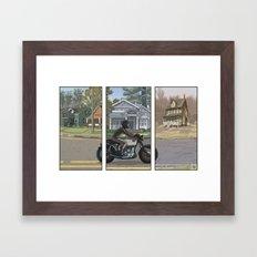 Midnight Radio - Travel Framed Art Print