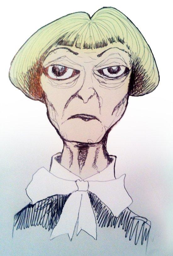 Betty D eyes Art Print