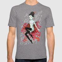 Fire Fairy Mens Fitted Tee Tri-Grey SMALL