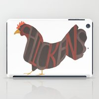 Chickens Typography iPad Case