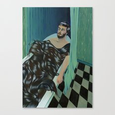 TODAY I FELL ASLEEP IN A BATH OR HAIR  Canvas Print