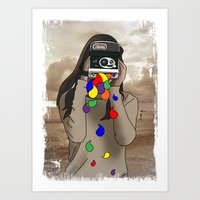 Polaroid Girl Art Print