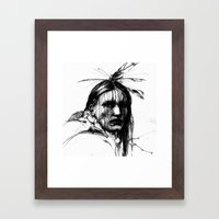 White Belly - Native American Indian Framed Art Print