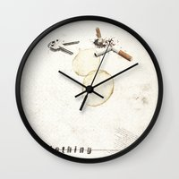 Nothing (...) | Collage Wall Clock