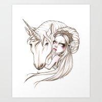 Her first Unicorn Art Print