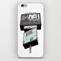 Old Deli Sign iPhone & iPod Skin