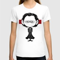 Little Sir Thomas Sharpe Womens Fitted Tee White SMALL