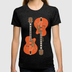 Chet's Guitar Womens Fitted Tee Tri-Black SMALL