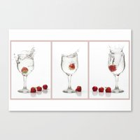 Strawberry Splashes Canvas Print