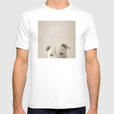 Pit bull love  SMALL White Mens Fitted Tee