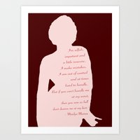 Marilyn Quote Art Print