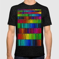 Prismatic Rainbow (Rever… Mens Fitted Tee Tri-Black SMALL