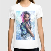 lights T-shirts featuring Northern Lights by Tanya Shatseva