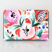 Tropical Sunrise Morning Glory Boho Watercolor Floral iPad Case
