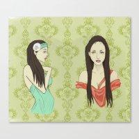 Princesas Canvas Print