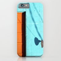 Electric Aqua building orange door iPhone 6 Slim Case