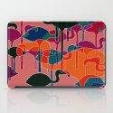 multicoloured flamingos iPad Case