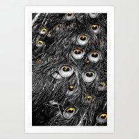 Fall Peacock Art Print
