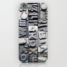 Letterpress Slim Case iPhone 6s