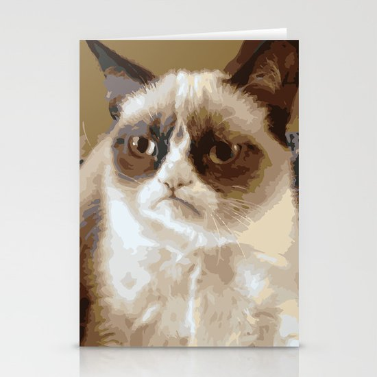 Grumpy Cat Stationery Card