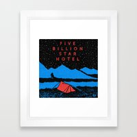 Star Hotel Framed Art Print