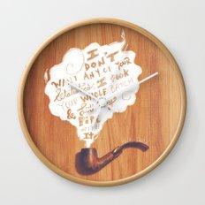 Lit My Pipe Wall Clock