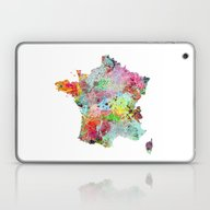 France Map Laptop & iPad Skin