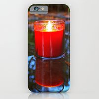 iPhone & iPod Case featuring Candle reflected by Vorona Photography